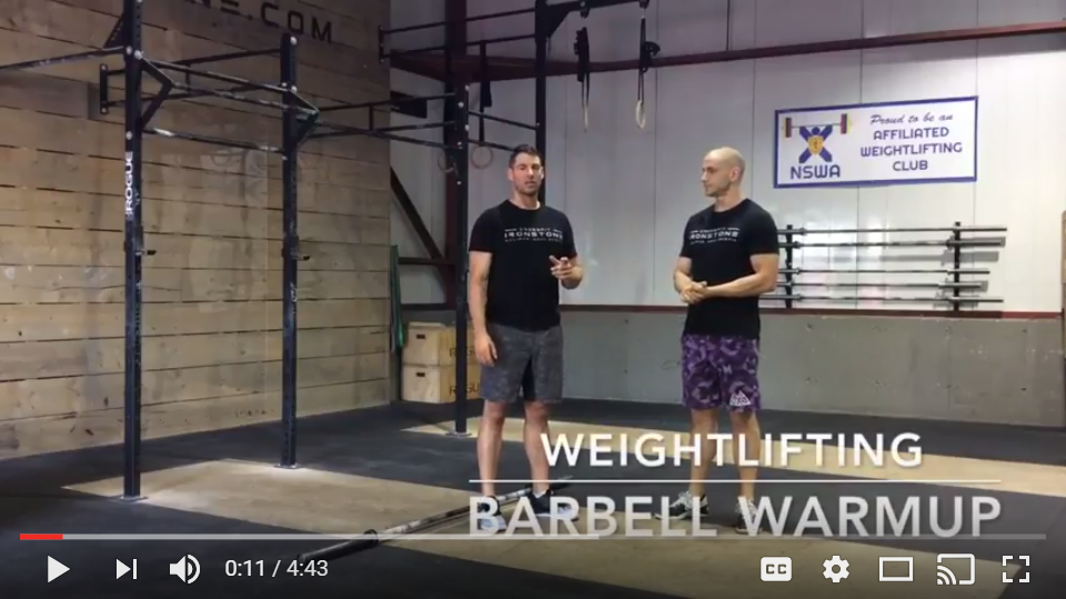 Weightlifting: Quick Barbell Warmup